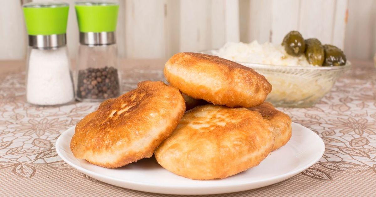 Фото Жареные пирожки с мясной начинкой