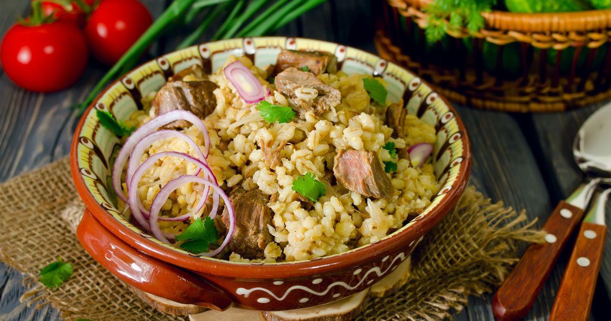 Фото Перловая каша с мясом