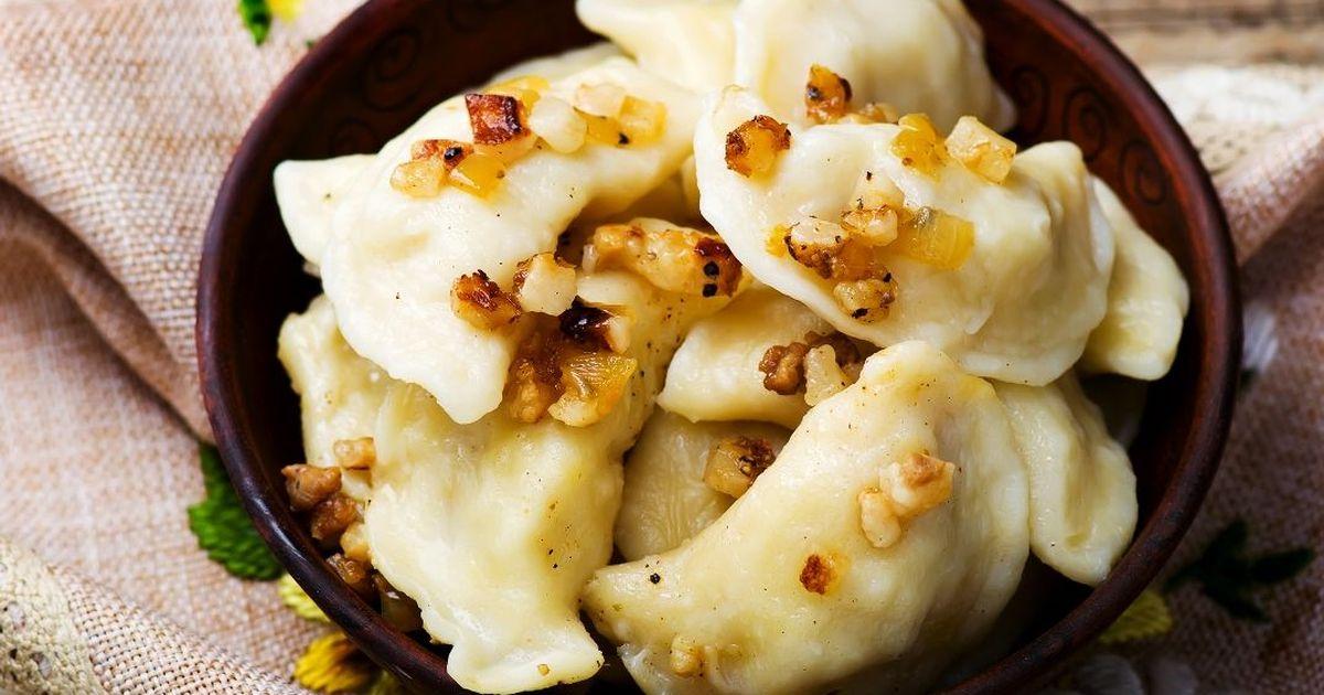 Фото Вкуснейшие вареники с картофелем и луком