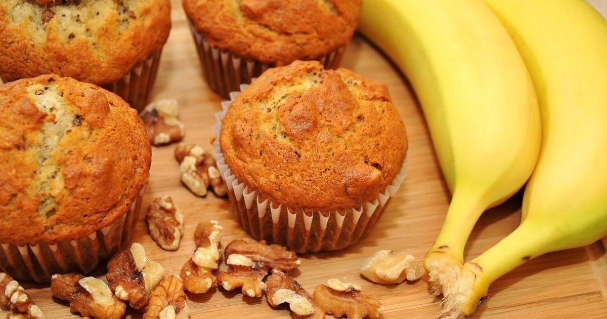 Фото Вкуснейшие банановые маффины на кефире
