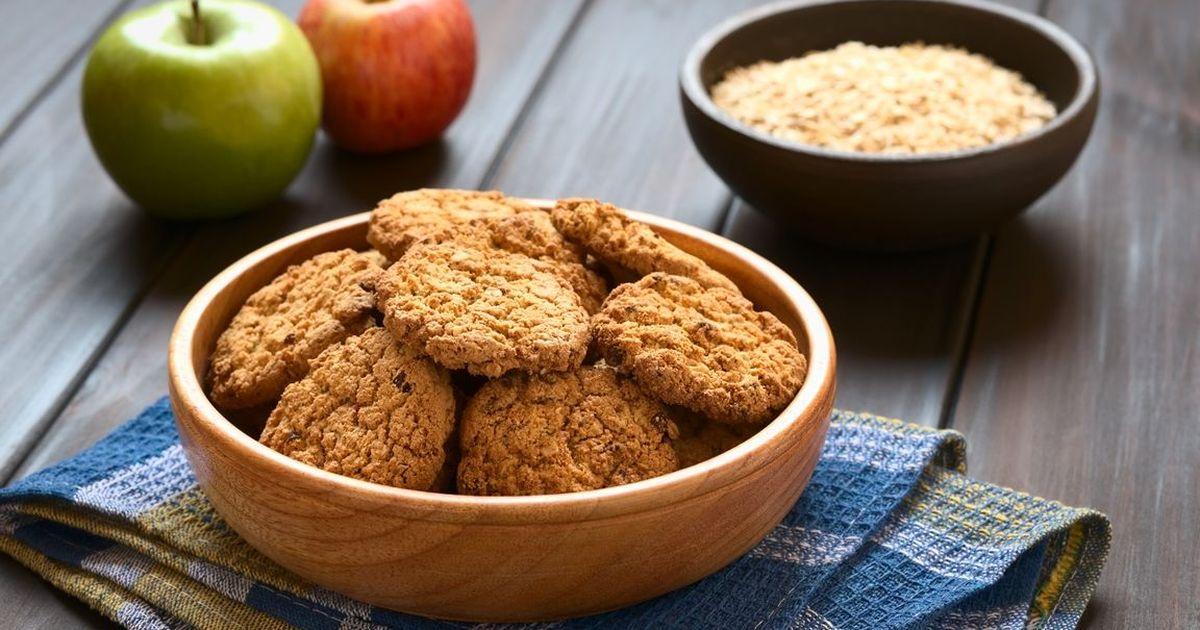 Фото Овсяное печенье с яблоком