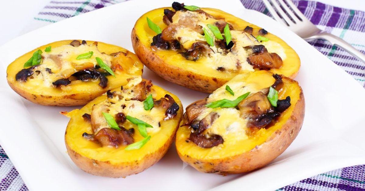 Фото Вкуснейшая запеченная картошка с грибами
