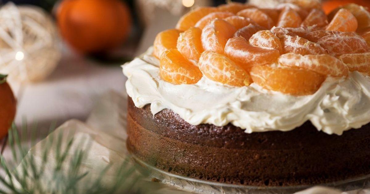 Фото Вкуснейший праздничный мандариновый торт