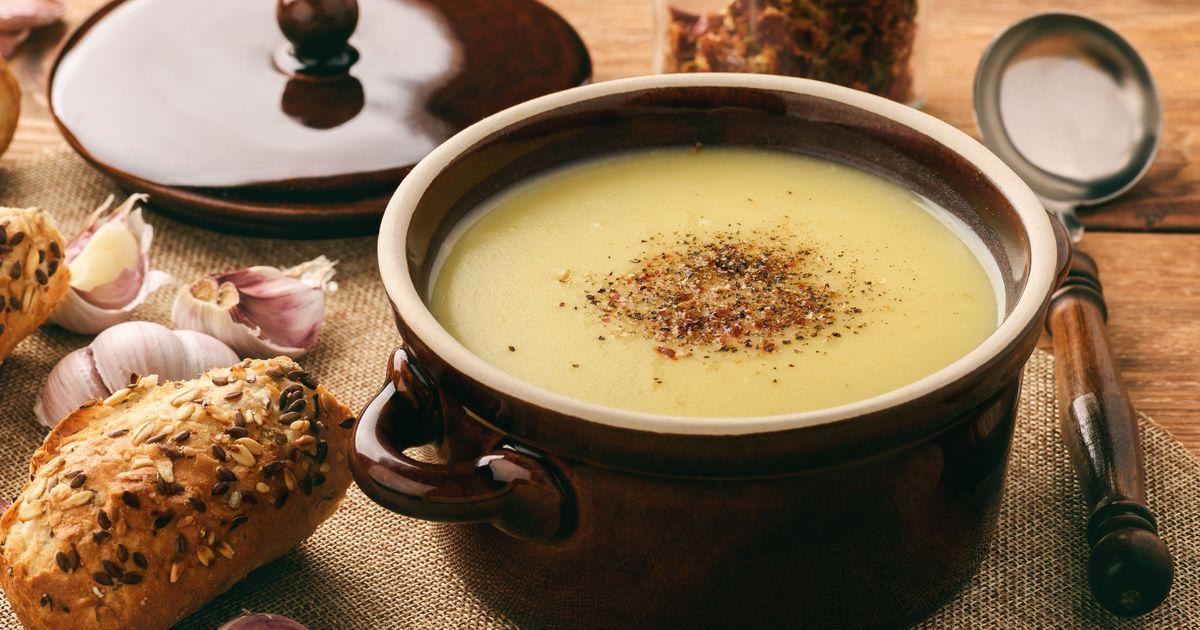 Фото Чешский чесночный суп