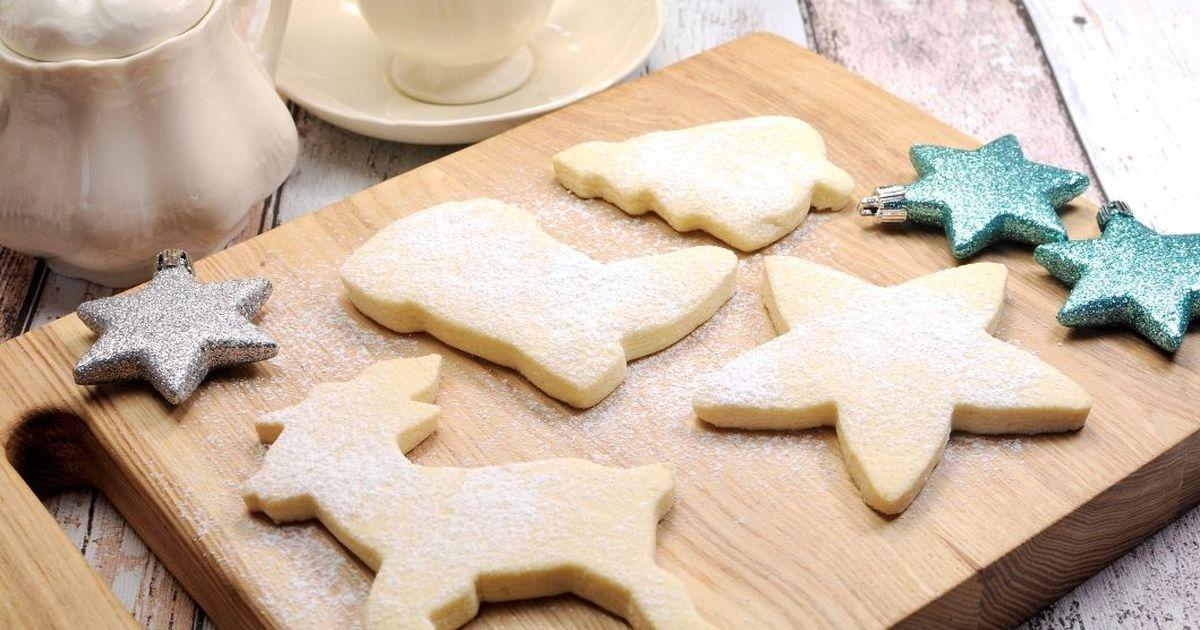 Фото Новогоднее песочное печенье