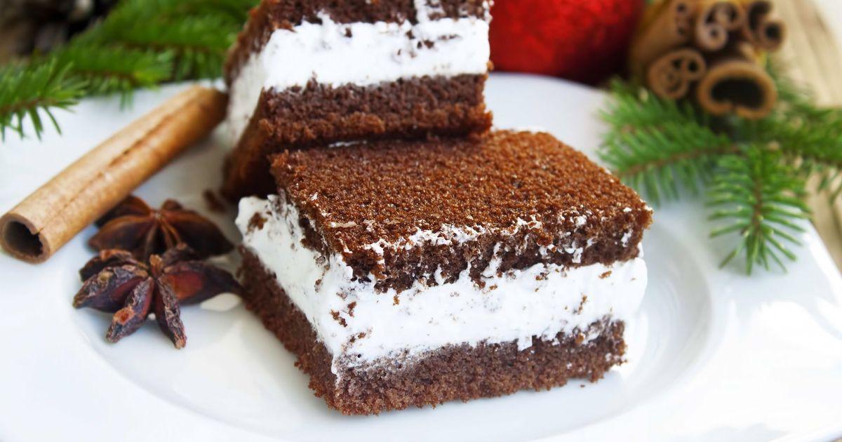 Фото Бисквитное пирожное с кокосовым кремом