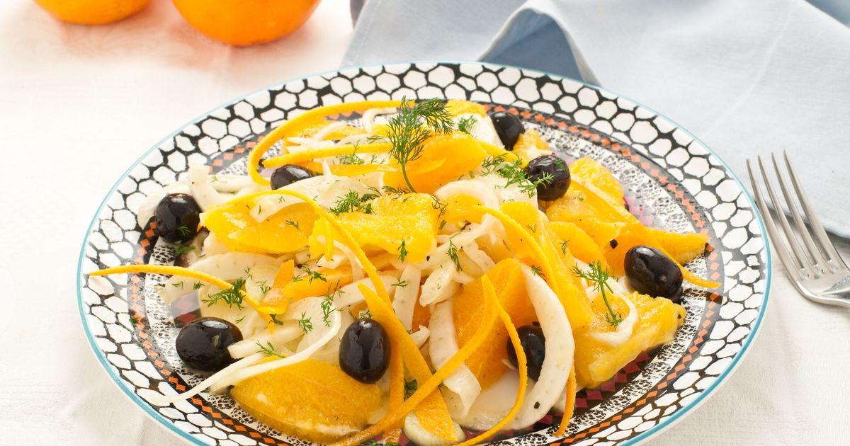 Фото Сицилийский салат с апельсинами