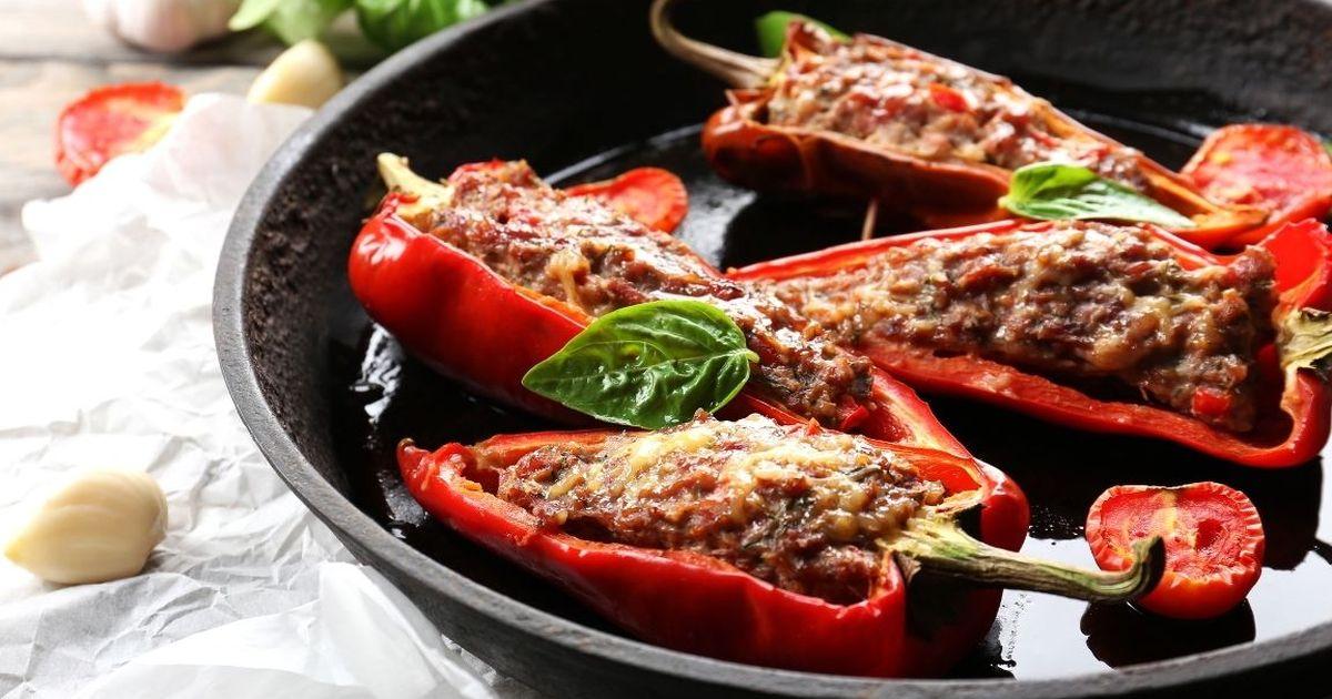 Фото Аппетитные фаршированные перцы