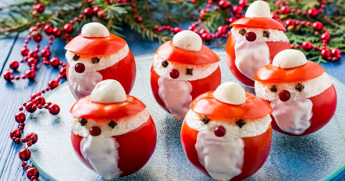 Фото Новогодняя закуска из помидоров