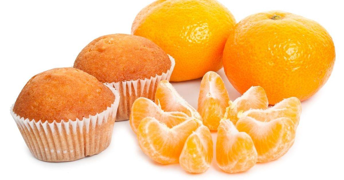 Фото Новогодние творожные кексы с мандаринами