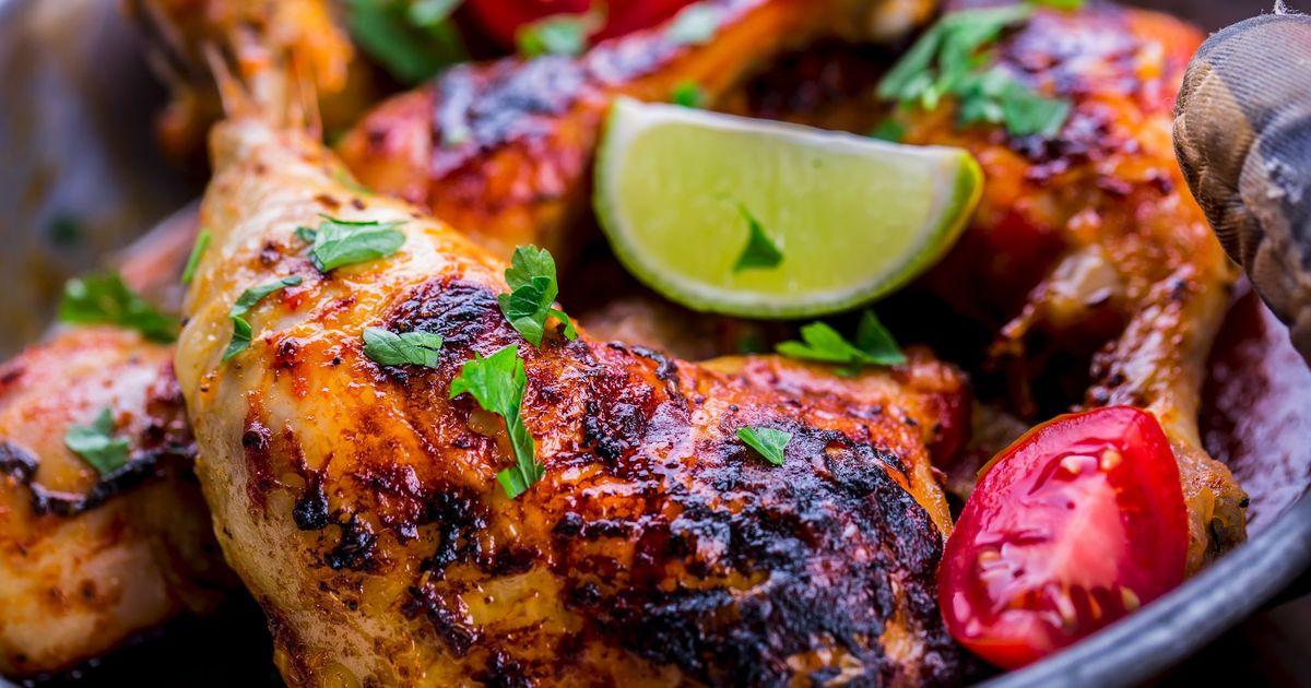 Фото Куриные окорочка в соусе барбекю