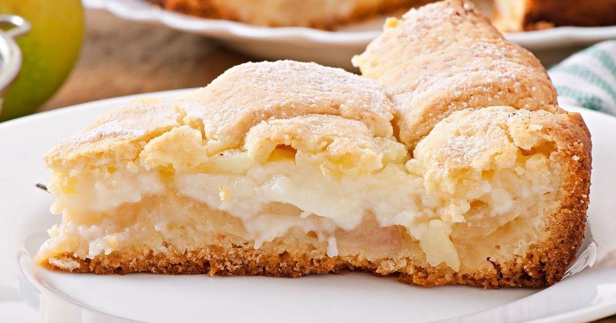 Фото Нежнейший яблочный пирог с заварным кремом