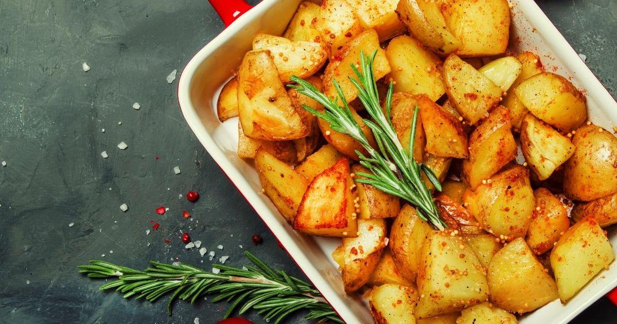 Фото Ароматный картофель, запеченный в горчичном соусе