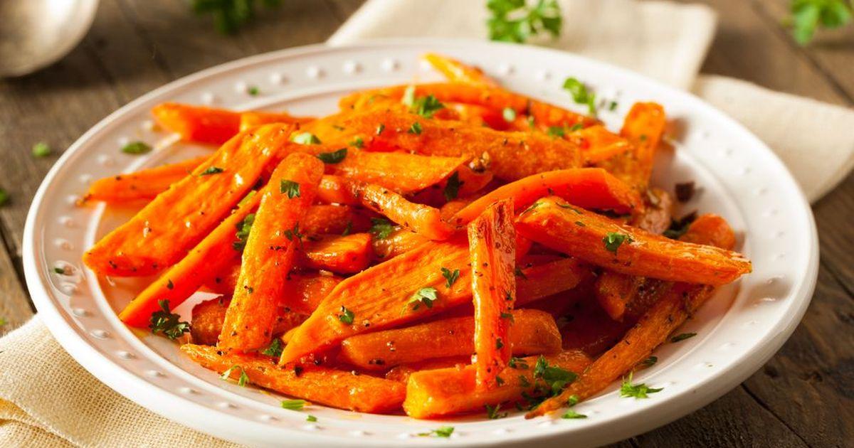 Фото Запеченная морковь с чесноком от Джейми Оливера