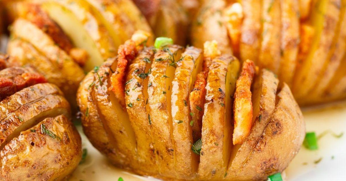Фото Аппетитная картошка-гармошка