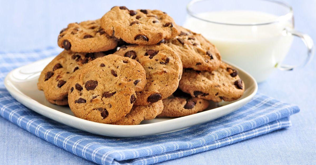 Фото Печенье с шоколадными каплями