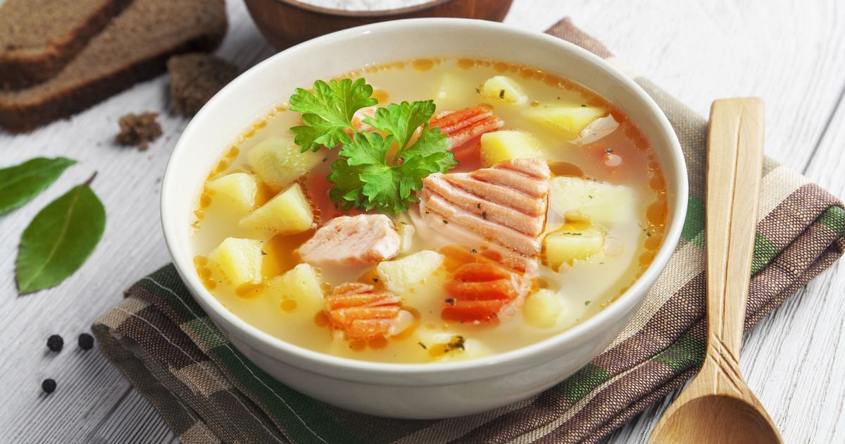 Фото Рыбный суп из лосося