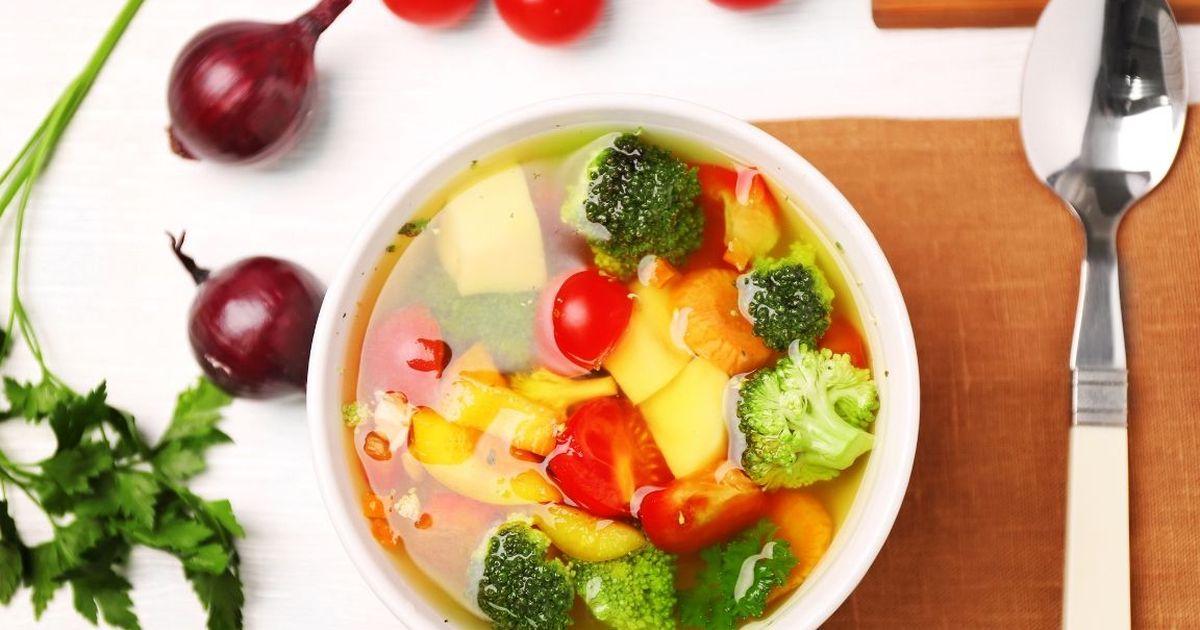 Фото Овощной диетический суп