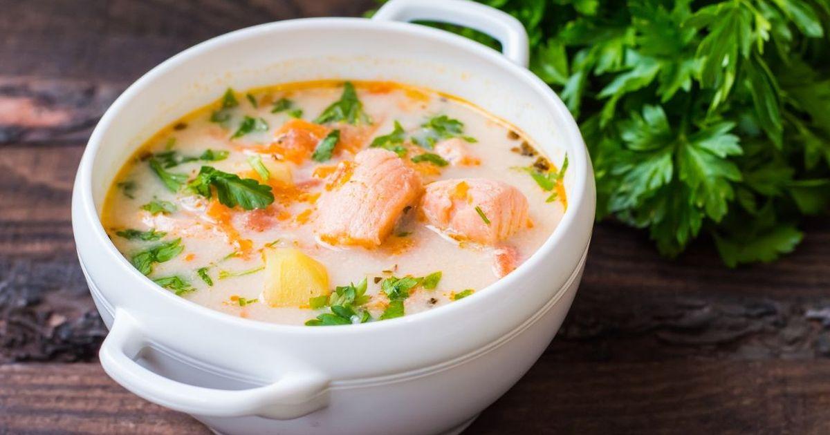 Фото Вкуснейший сырный рыбный суп