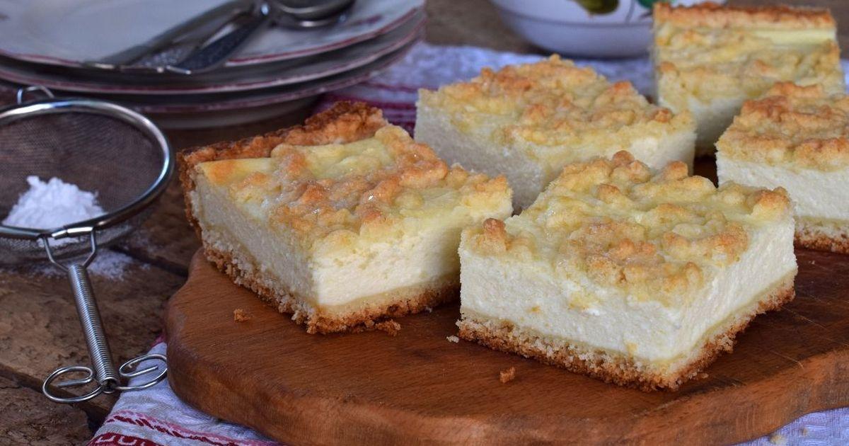 Фото Нежнейший тёртый пирог с творогом