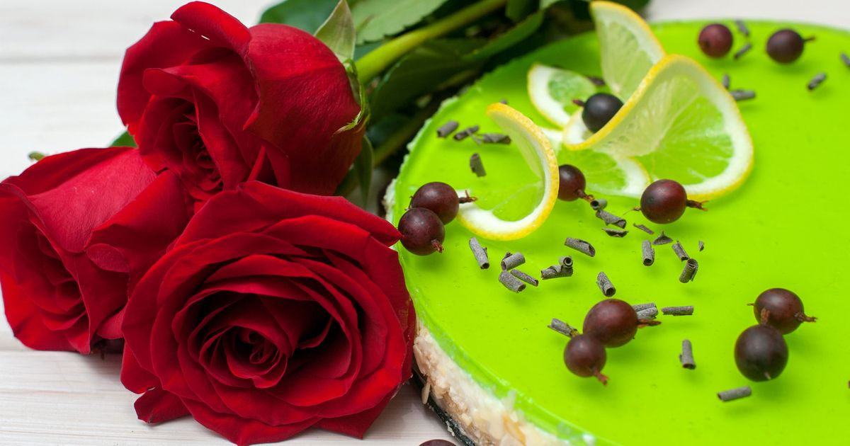 Фото Желейный чизкейк с лаймом без выпечки