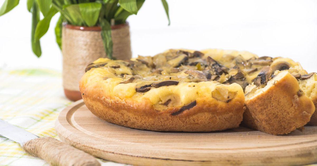 Фото Аппетитный пирог с грибами