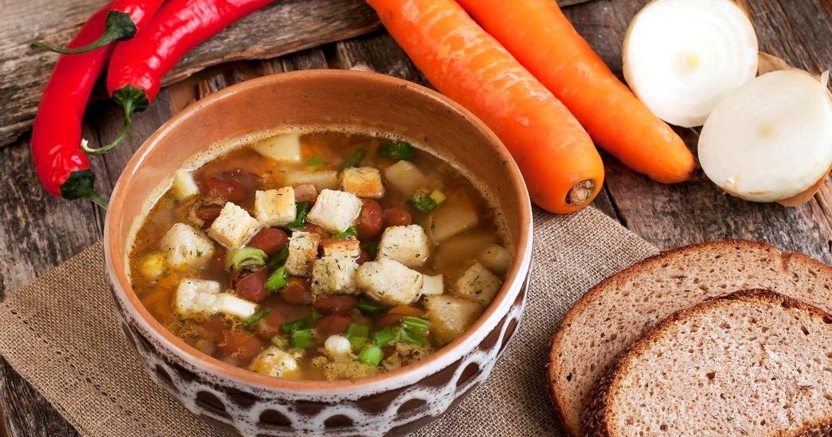 Фото Домашний фасолевый суп