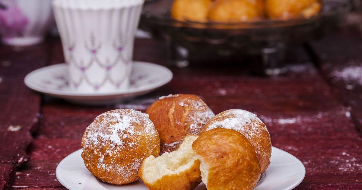Фото Творожные пончики в сахарной пудре