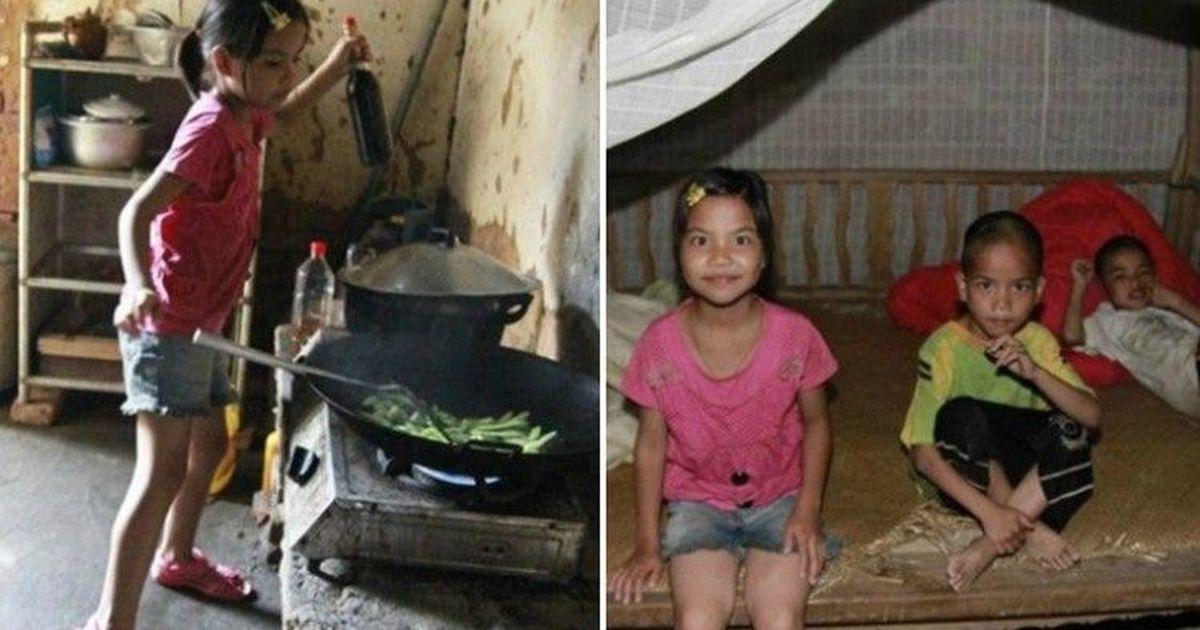 Фото Одна за всех: 10-летняя девочка заменила младшим братьям родителей