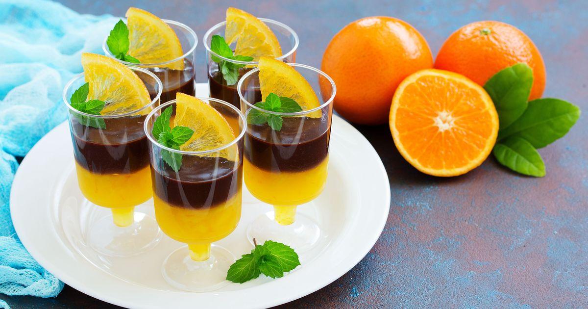 Фото Апельсиновое желе с шоколадным муссом