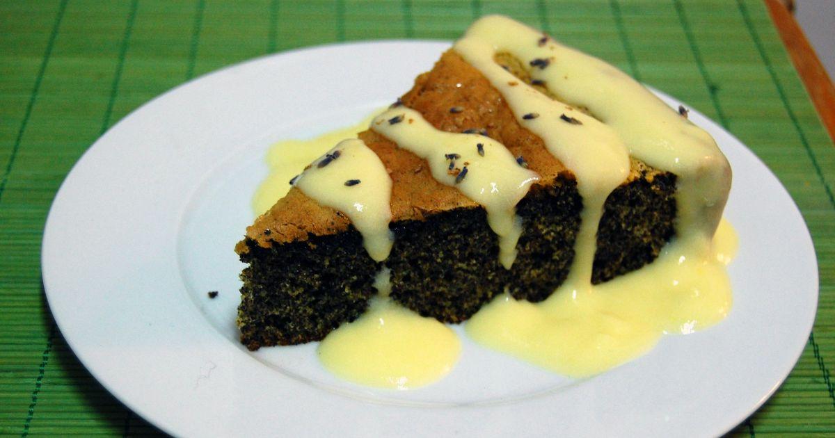 Фото Маковый пирог с глазурью