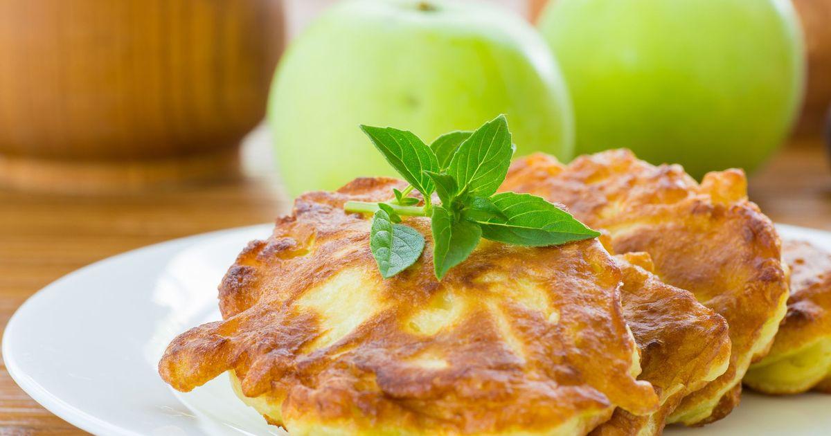 Фото Яблочные оладушки