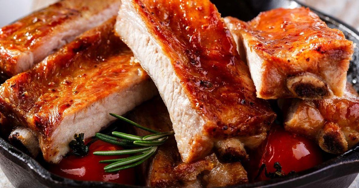 Фото Вкуснейшие запеченные свиные рёбрышки