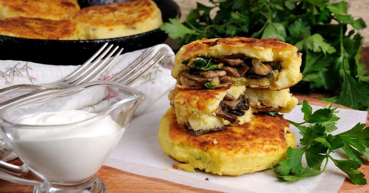Фото Вкуснейшие картофельные зразы с грибами