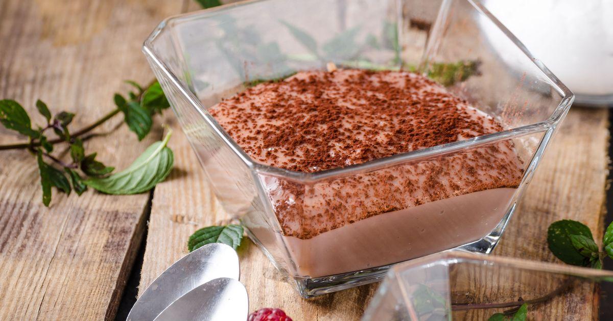 Фото Нежный шоколадный мусс