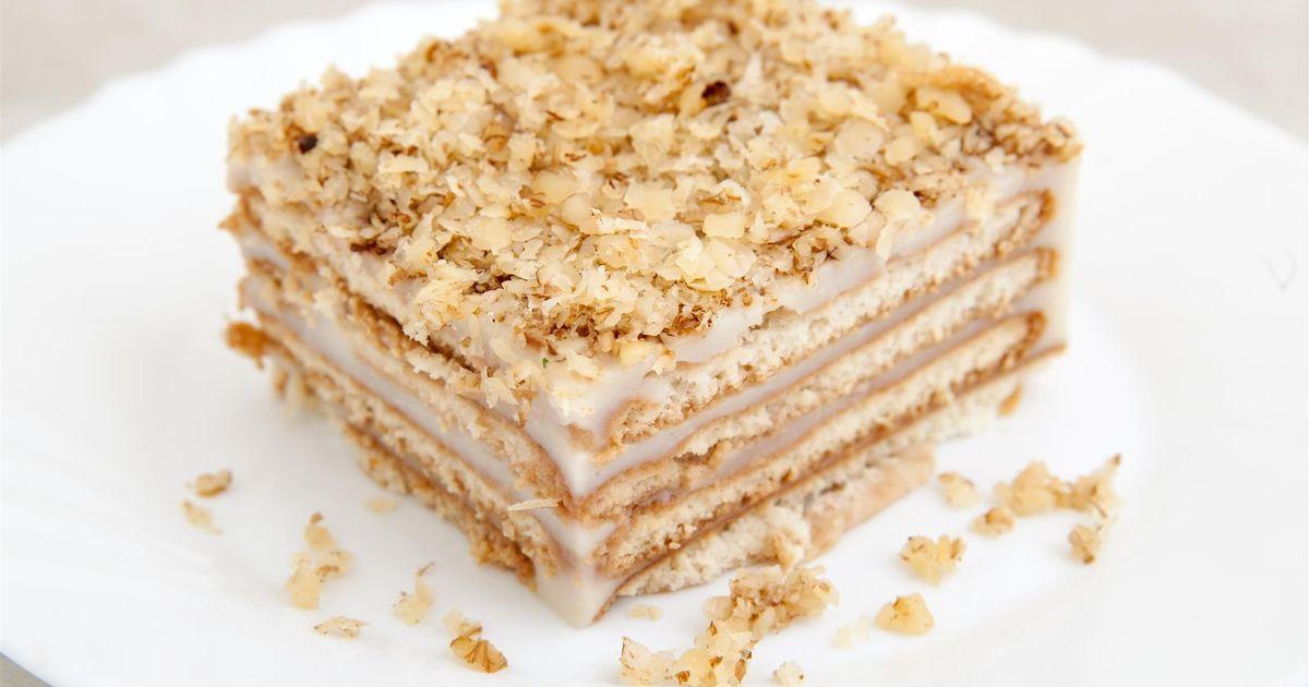 Фото Пошаговый фото-рецепт: Торт без выпечки