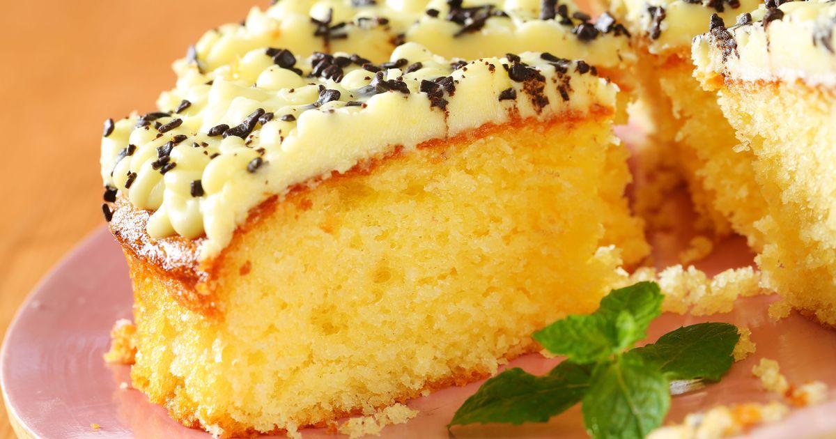 Фото Бисквит на лимонаде в духовке