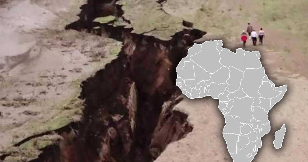 Фото Африканский континент раскалывается на две части