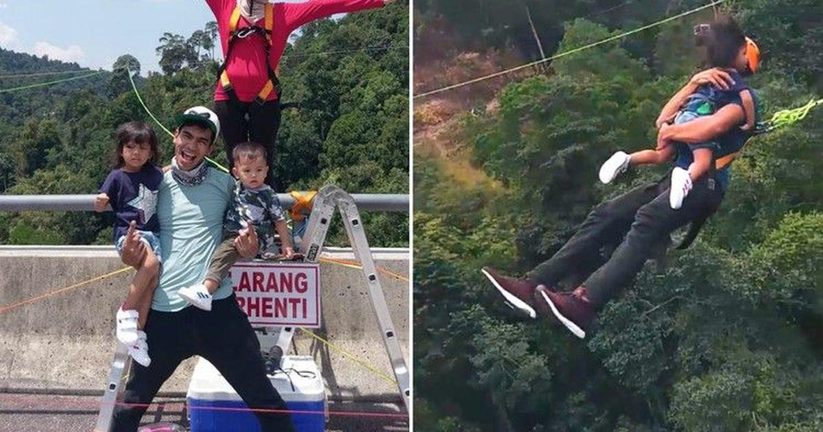 Фото Острые ощущения: мужчина прыгнул в ущелье с двухлетней дочерью на руках