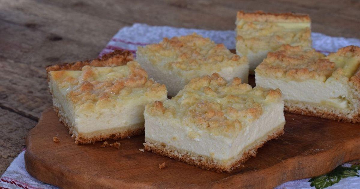 Фото Тёртый пирог с творогом по-домашнему
