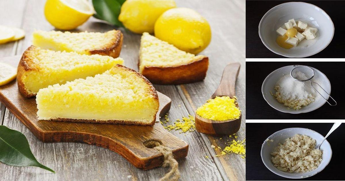Фото Открытый лимонный пирог: пошаговый фото рецепт