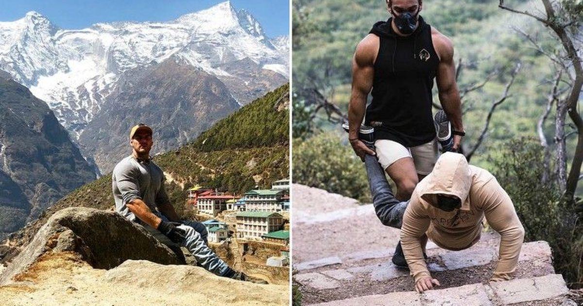Фото Инвалид-колясочник три дня взбирался на Эверест на руках