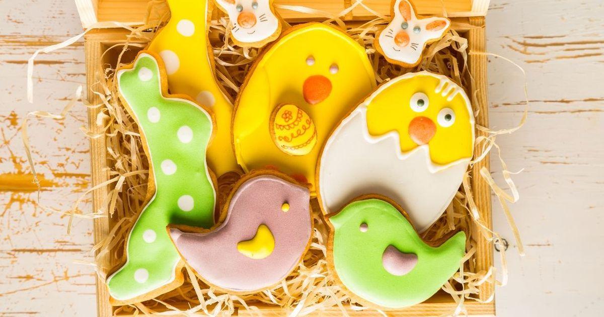 Фото Пасхальные печенья с глазурью