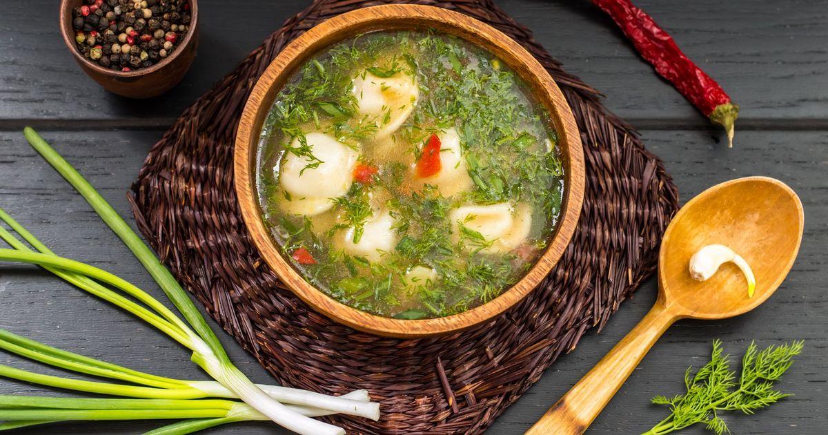 Фото Куриный суп с клецками