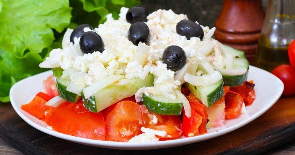 Фото Болгарский шопский салат