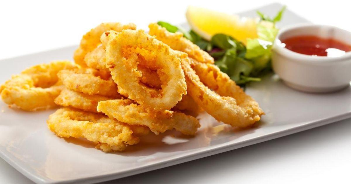 Фото Аппетитные кальмары в хрустящем кляре
