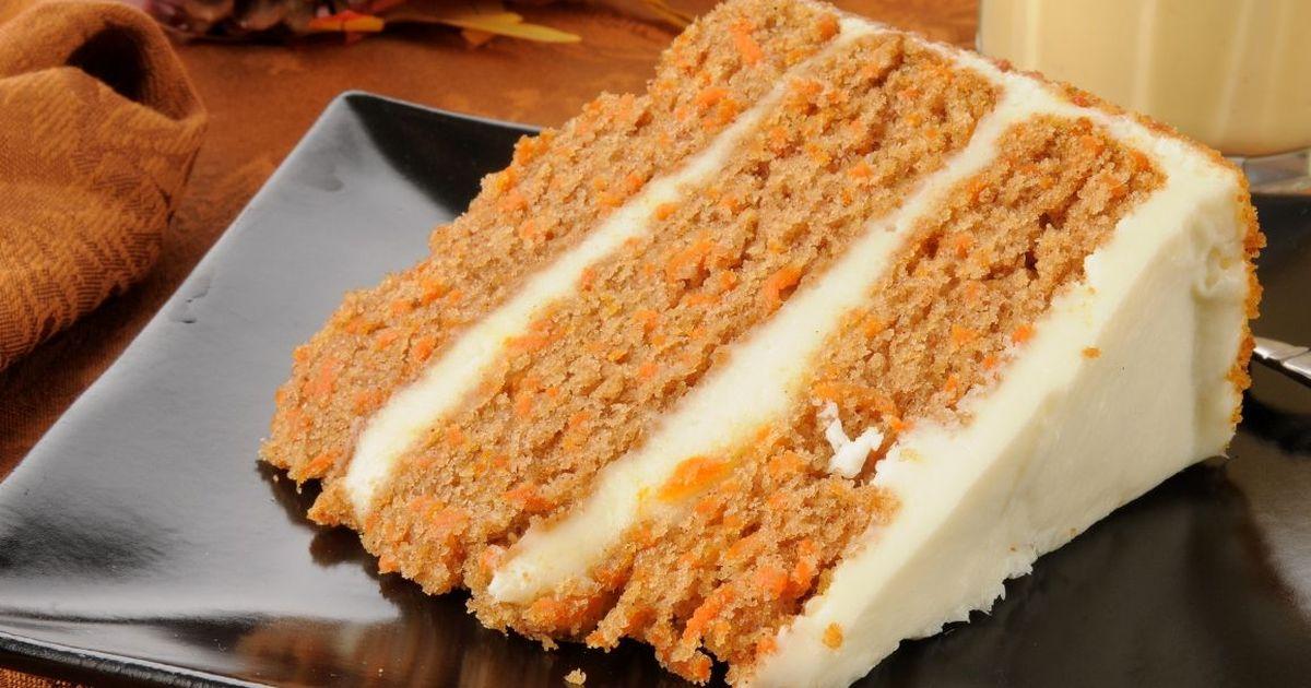 Фото Праздничный морковный торт