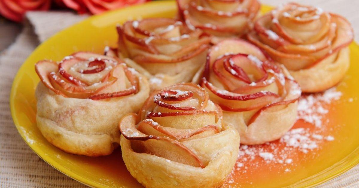 Фото Изящные яблочные слойки