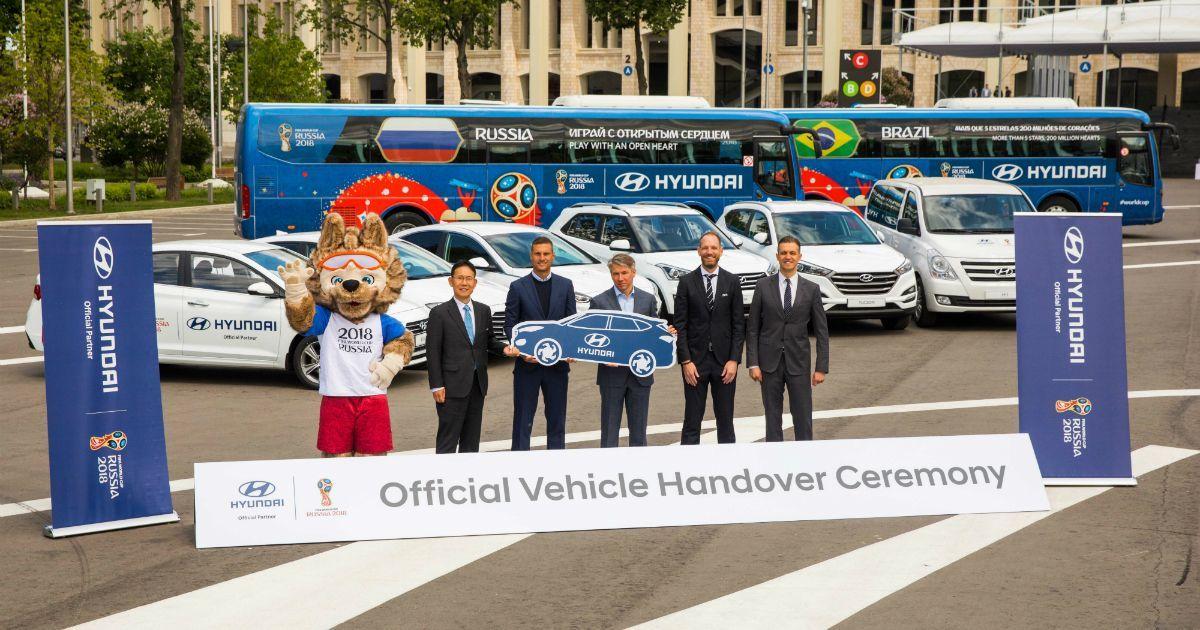 Фото Hyundai передала 530 автомобилей для чемпионата мира по футболу-2018