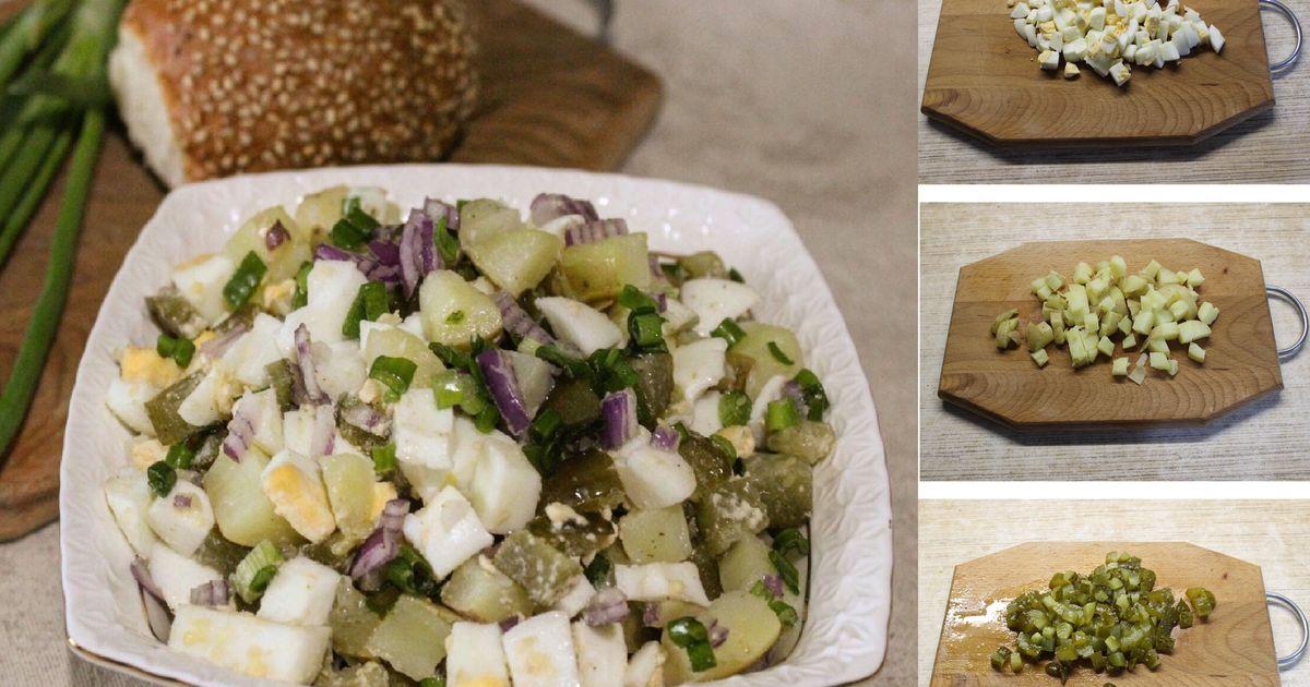 Фото Пошаговый фото-рецепт: Сочный картофельный салат